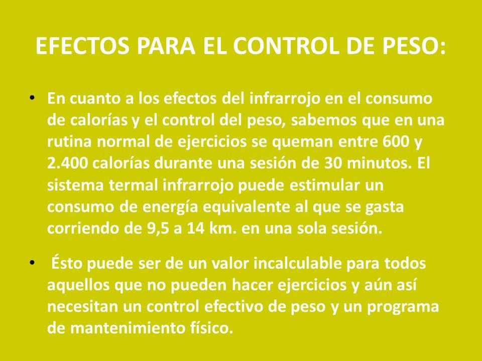EFECTOS PARA EL CONTROL DE PESO: