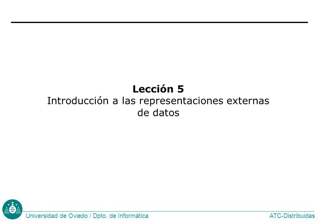 Lección 5 Introducción a las representaciones externas de datos