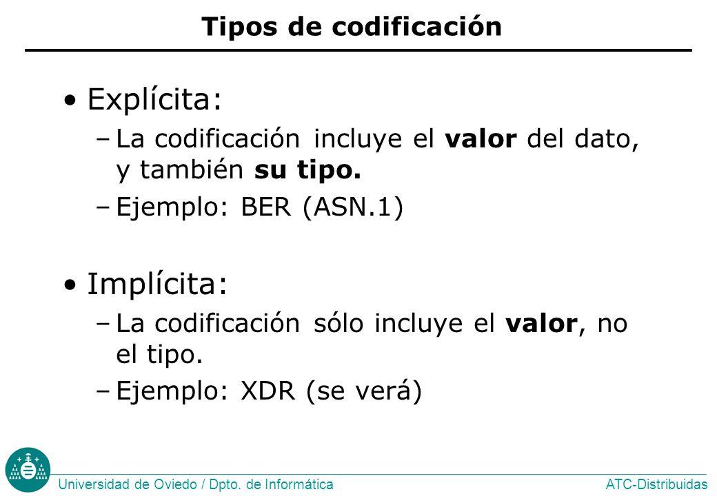 Explícita: Implícita: Tipos de codificación