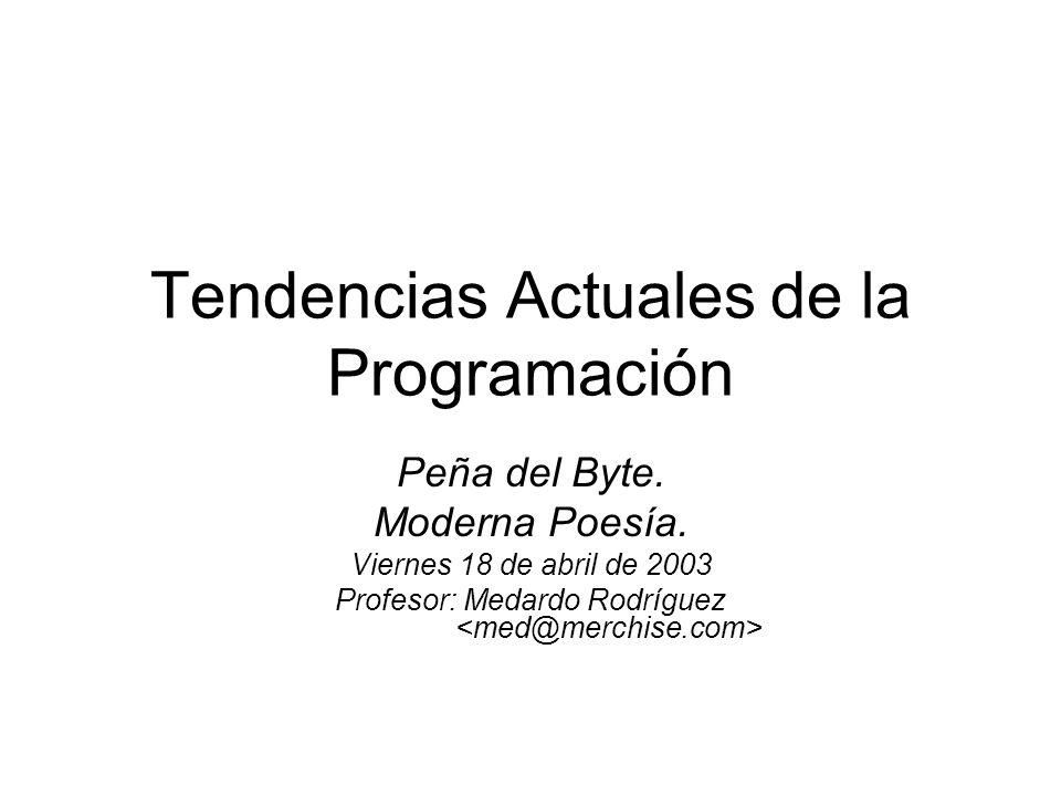Tendencias Actuales de la Programación