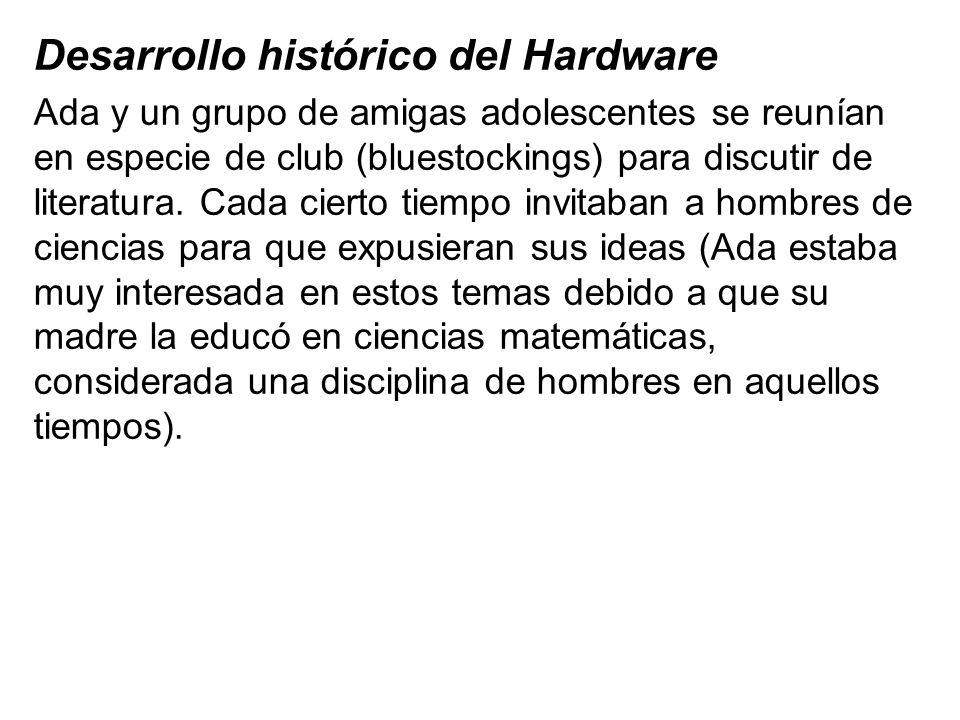 Desarrollo histórico del Hardware