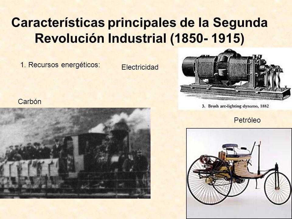 Características principales de la Segunda Revolución Industrial (1850- 1915)