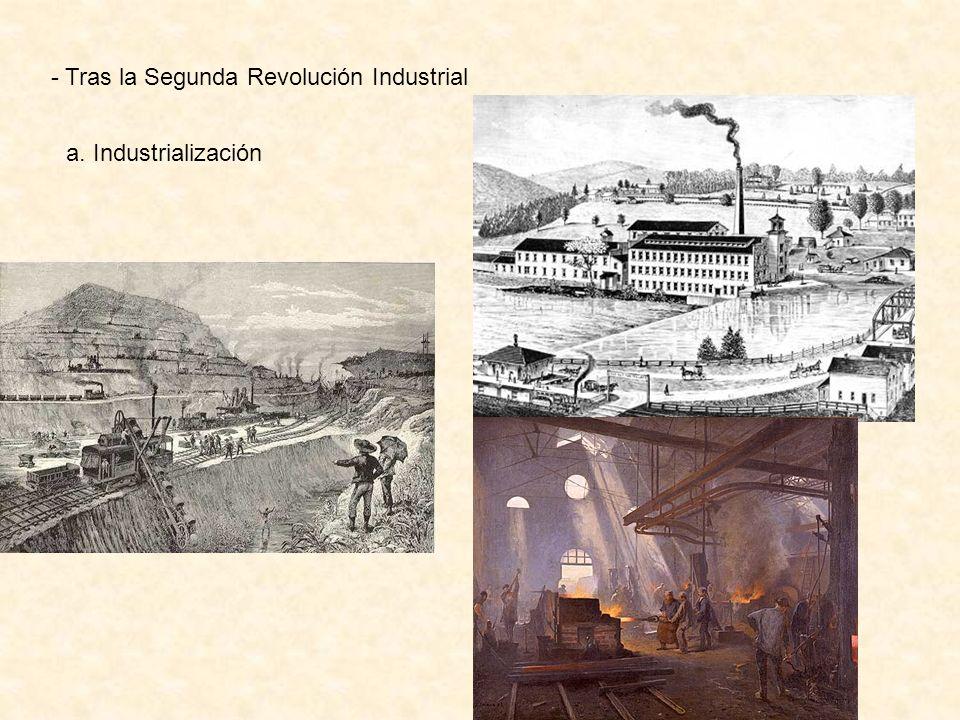 - Tras la Segunda Revolución Industrial