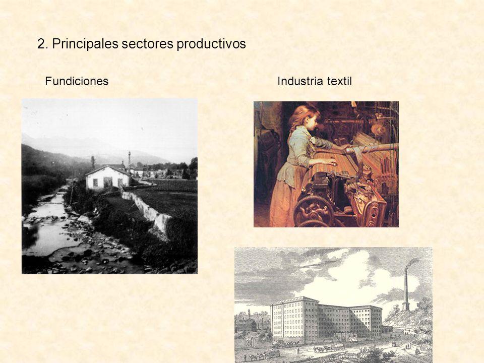 2. Principales sectores productivos