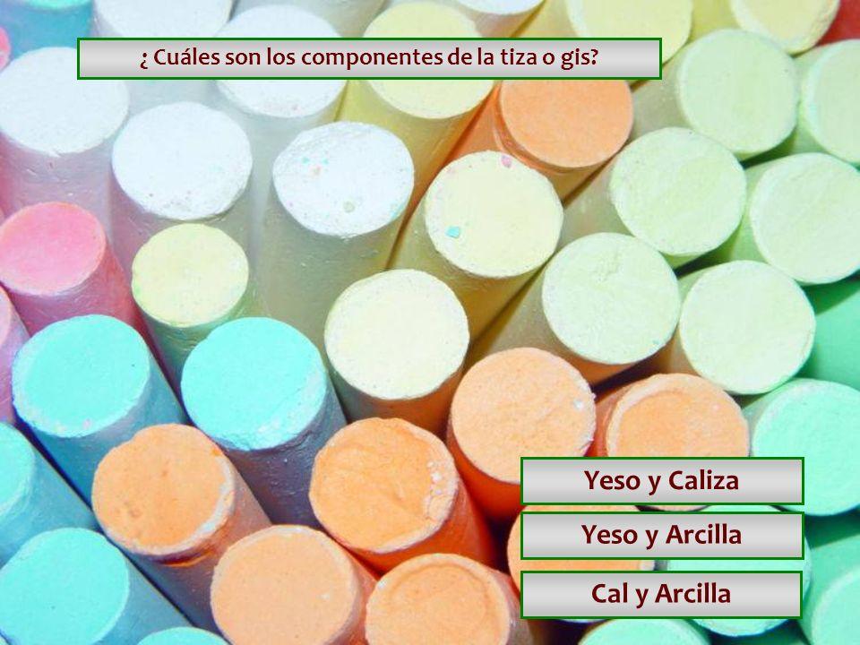¿ Cuáles son los componentes de la tiza o gis