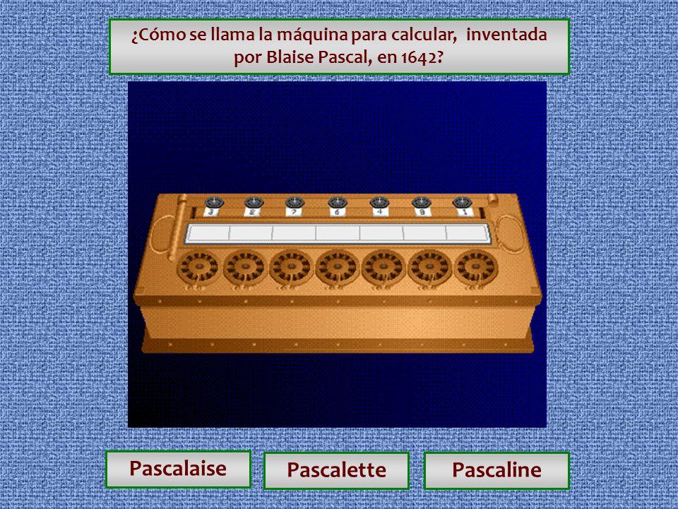 Pascalaise Pascalette Pascaline