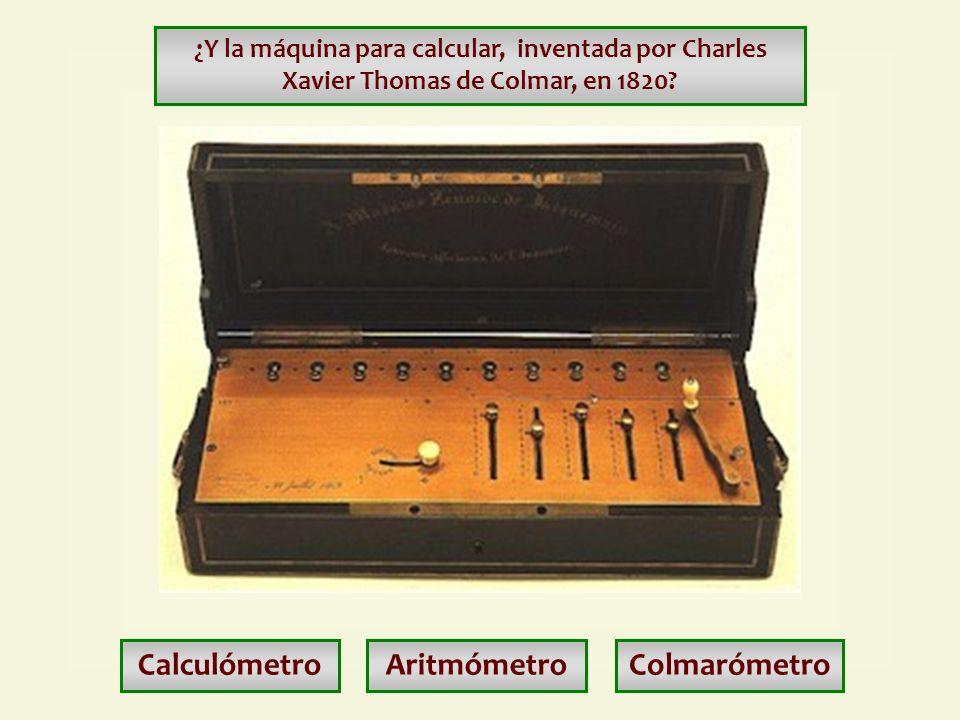 Calculómetro Aritmómetro Colmarómetro