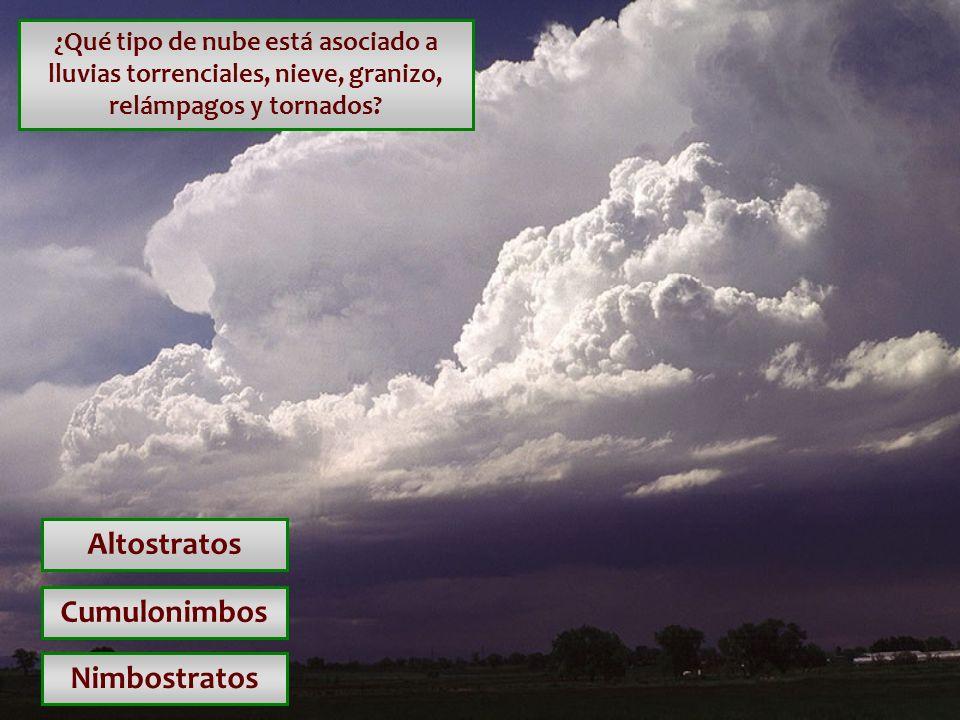 Altostratos Cumulonimbos Nimbostratos