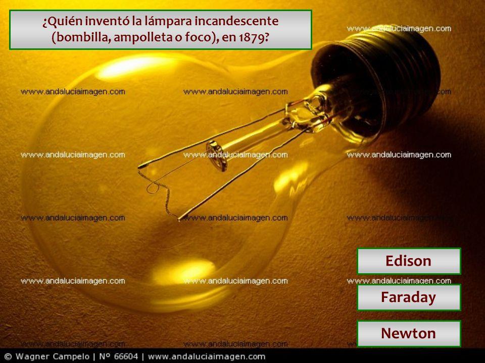 ¿Quién inventó la lámpara incandescente (bombilla, ampolleta o foco), en 1879