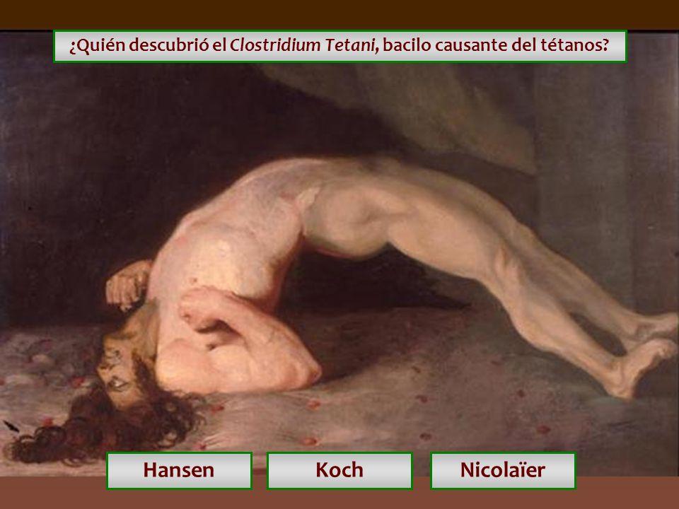 ¿Quién descubrió el Clostridium Tetani, bacilo causante del tétanos