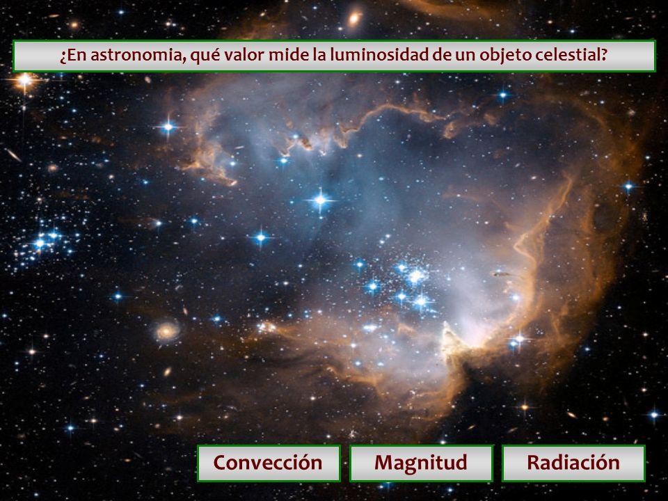 ¿En astronomia, qué valor mide la luminosidad de un objeto celestial