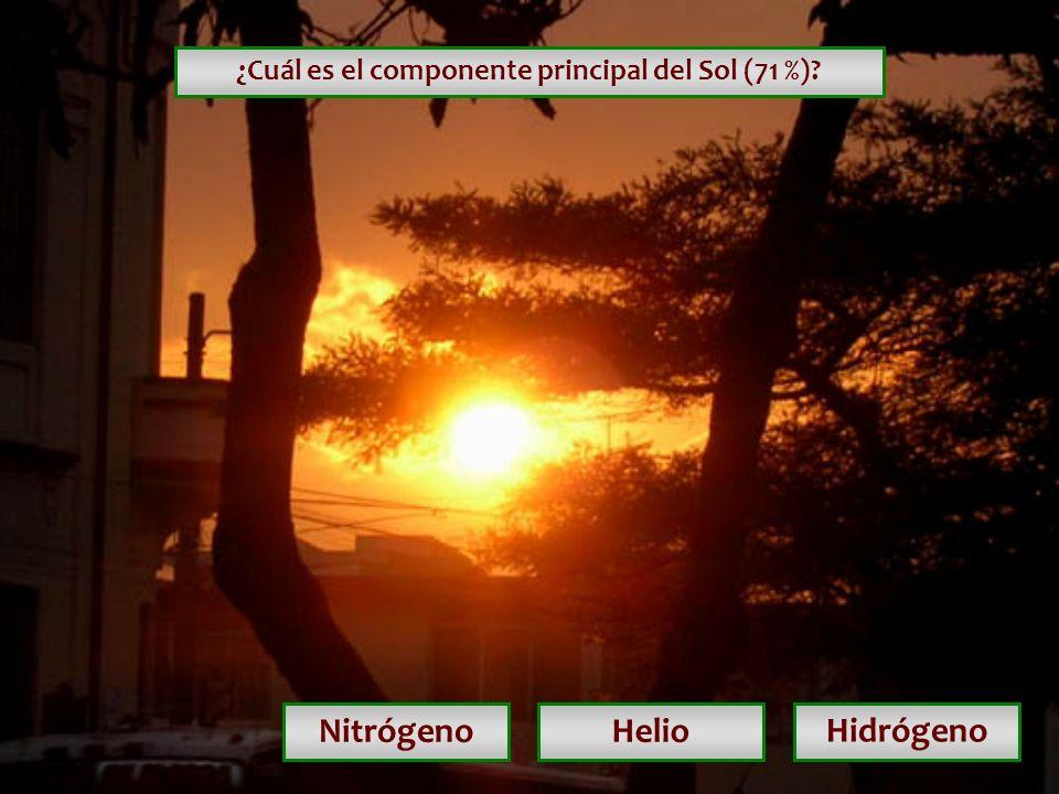 ¿Cuál es el componente principal del Sol (71 %)
