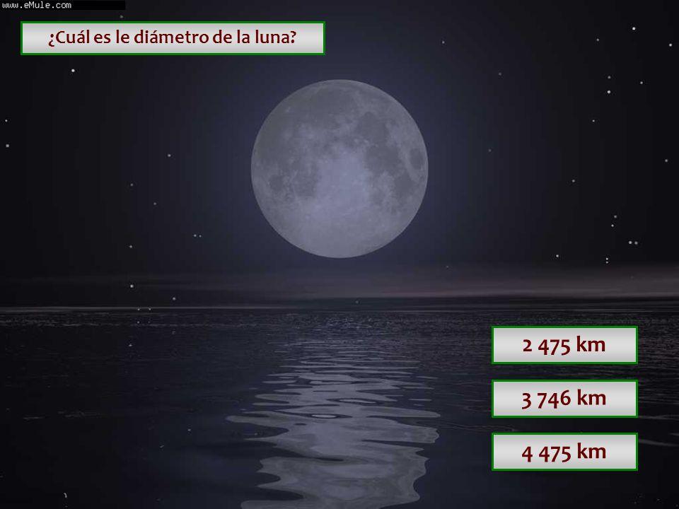 ¿Cuál es le diámetro de la luna
