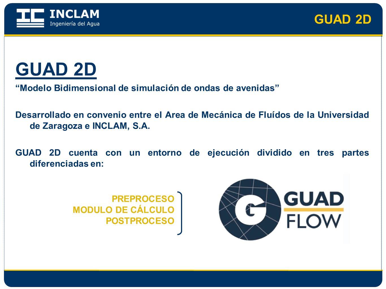 GUAD 2D GUAD 2D. Modelo Bidimensional de simulación de ondas de avenidas