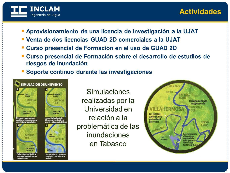 Actividades Simulaciones realizadas por la Universidad en