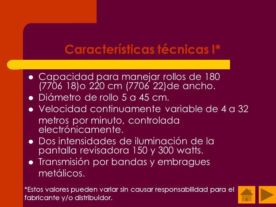 Características técnicas I*