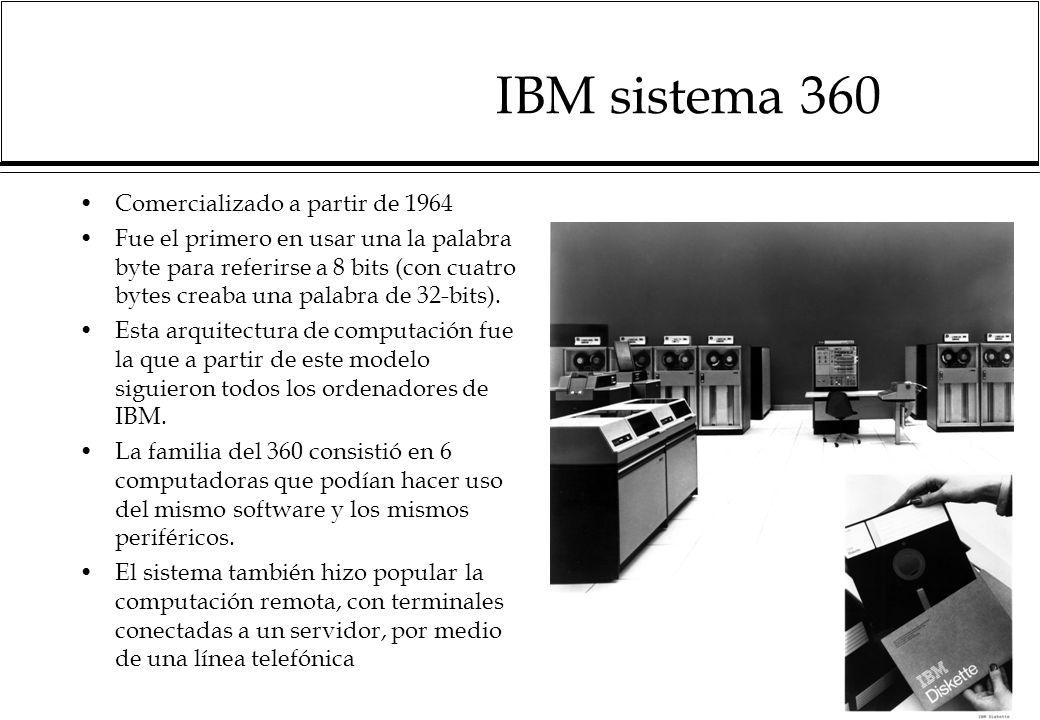 IBM sistema 360 Comercializado a partir de 1964