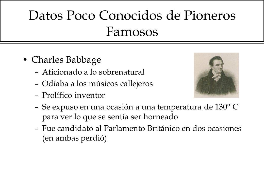 Datos Poco Conocidos de Pioneros Famosos