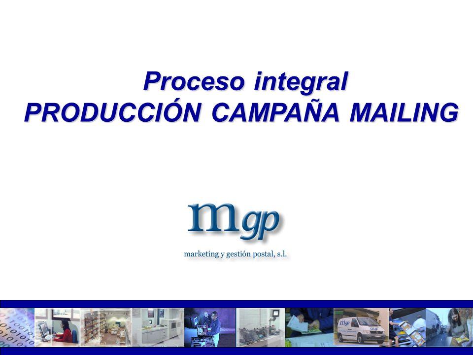 PRODUCCIÓN CAMPAÑA MAILING