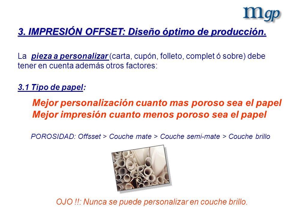 3. IMPRESIÓN OFFSET: Diseño óptimo de producción.