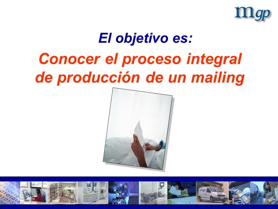 Conocer el proceso integral de producción de un mailing