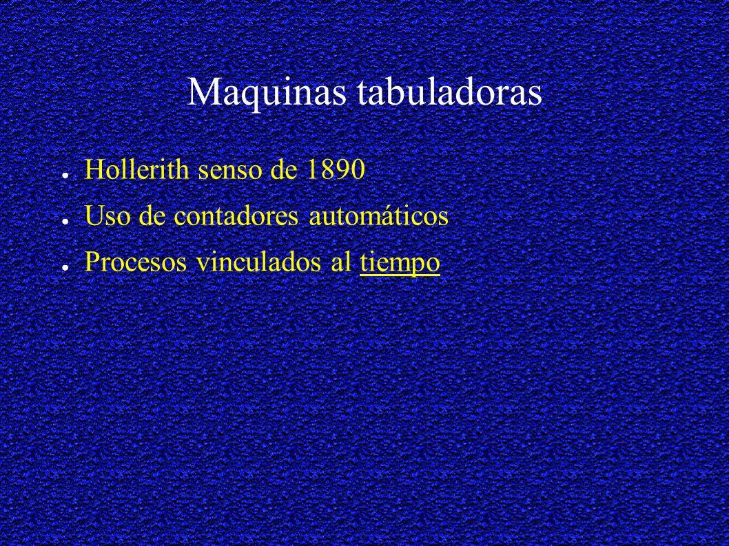 Maquinas tabuladoras Hollerith senso de 1890