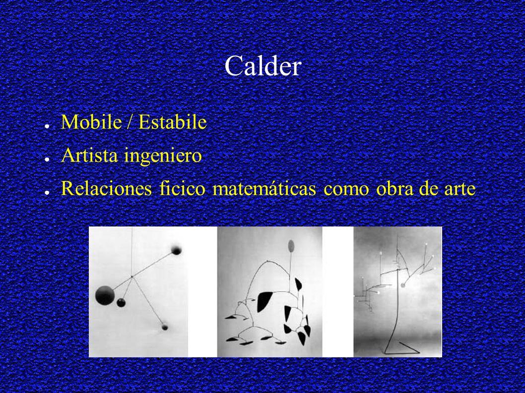 Calder Mobile / Estabile Artista ingeniero
