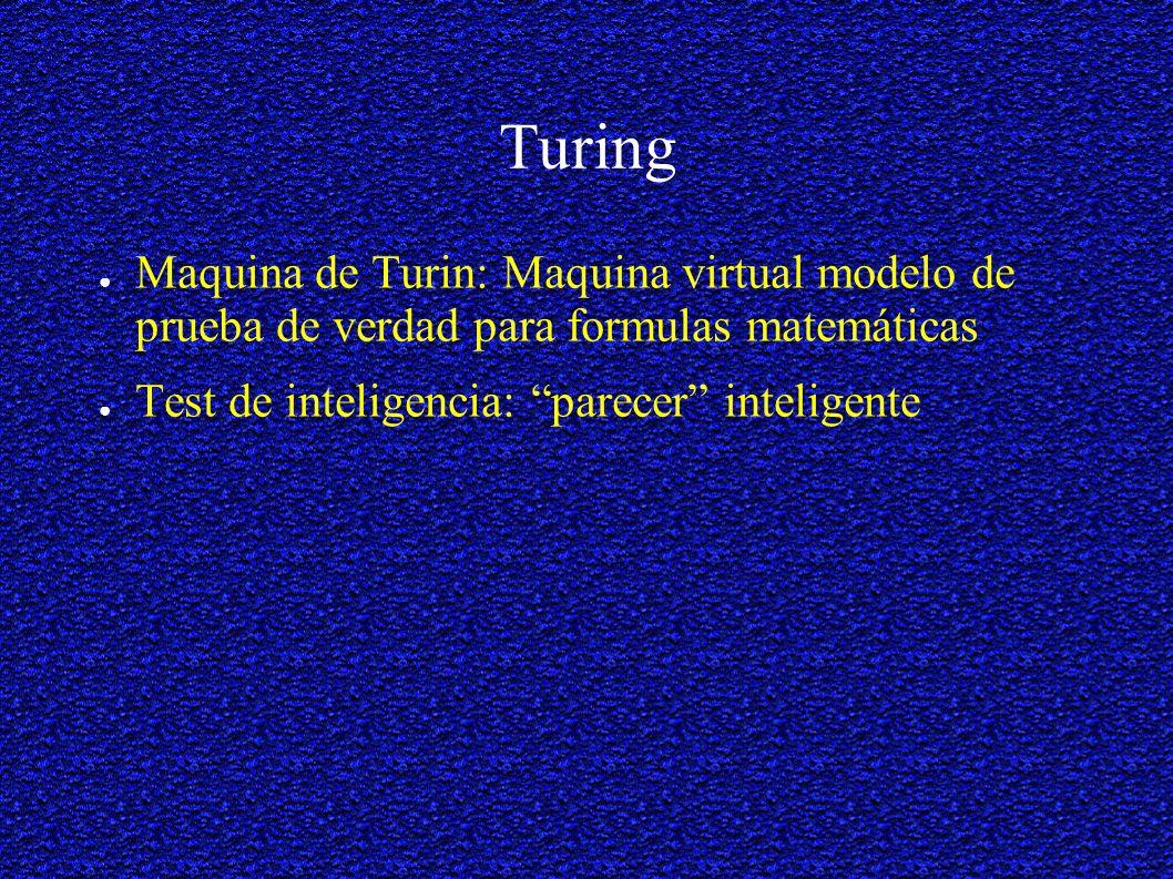 Turing Maquina de Turin: Maquina virtual modelo de prueba de verdad para formulas matemáticas.