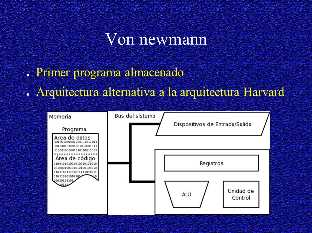 Von newmann Primer programa almacenado