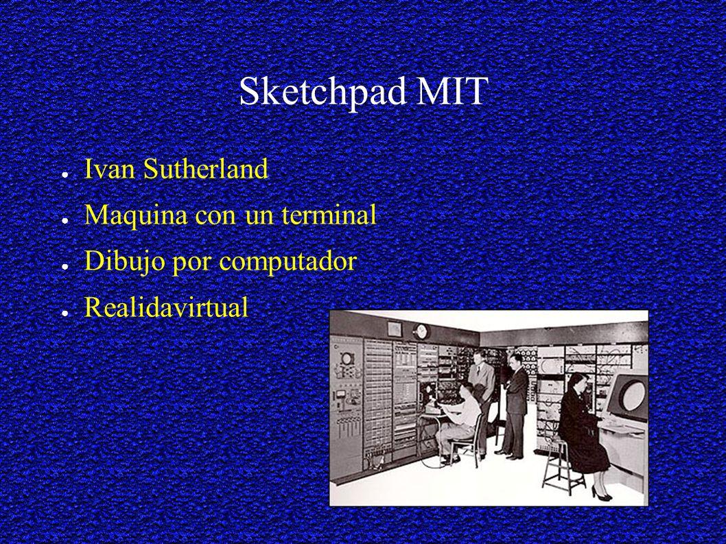 Sketchpad MIT Ivan Sutherland Maquina con un terminal