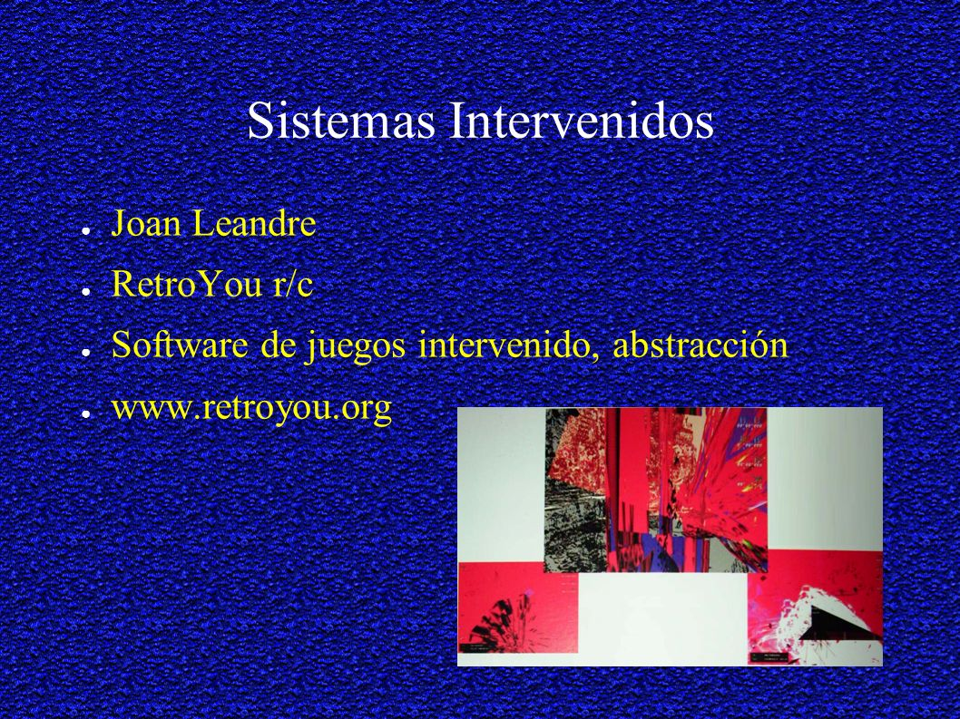 Sistemas Intervenidos