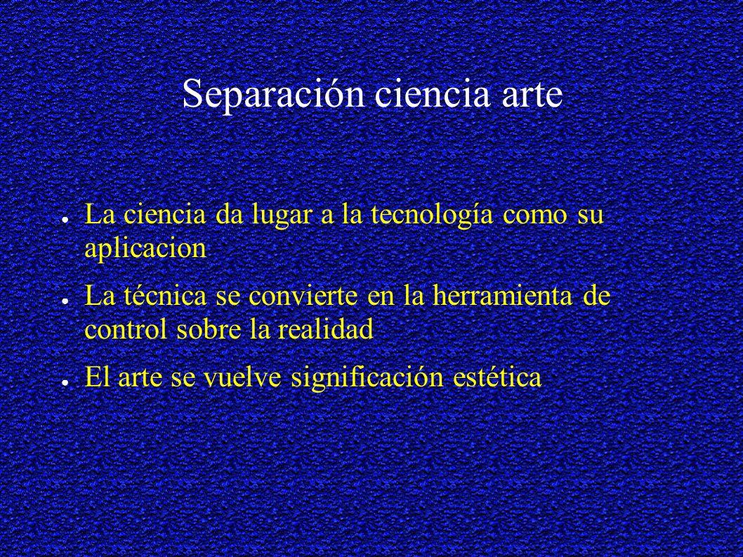 Separación ciencia arte