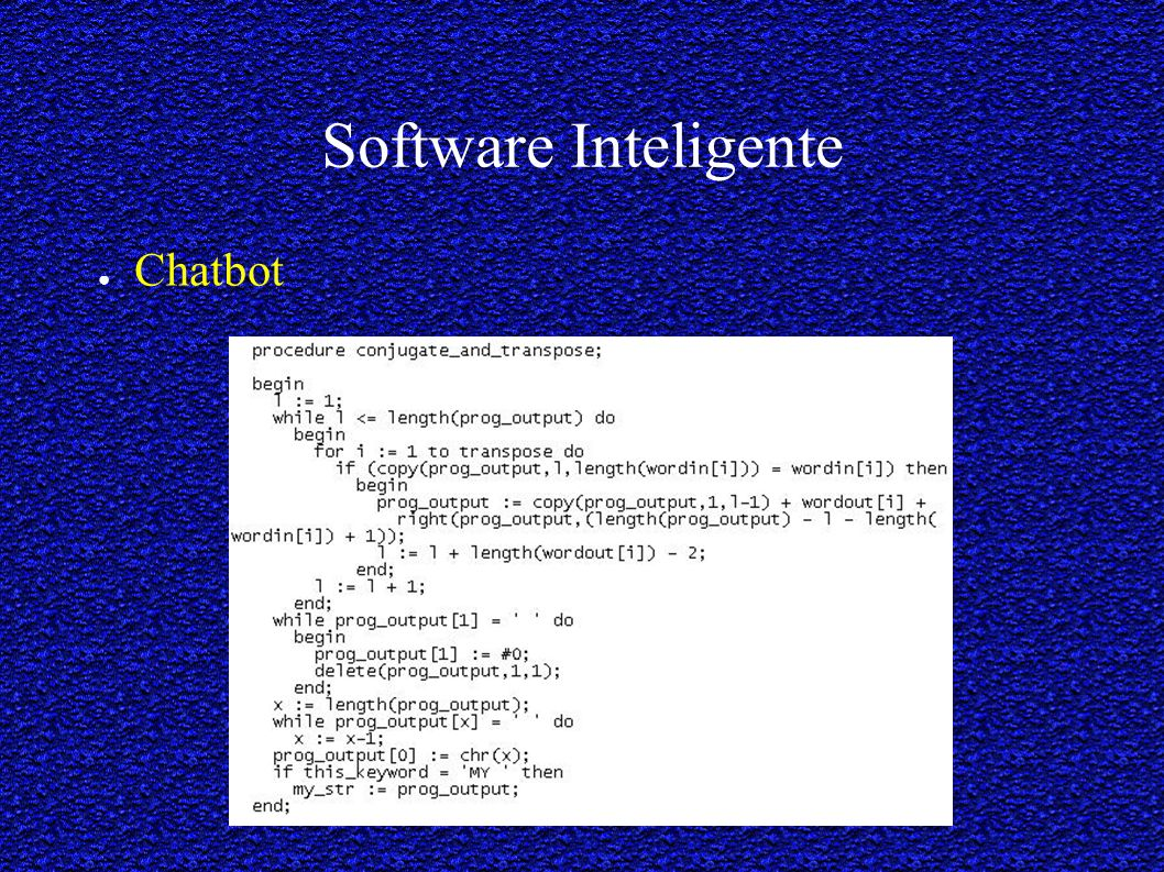 Software Inteligente Chatbot
