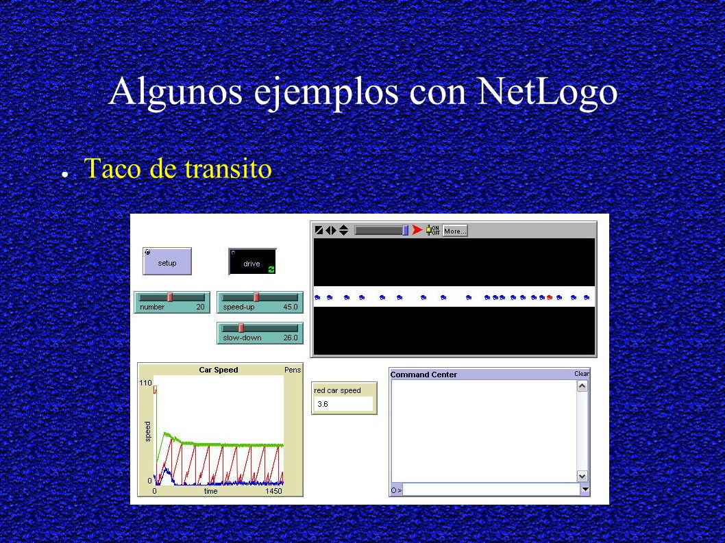 Algunos ejemplos con NetLogo