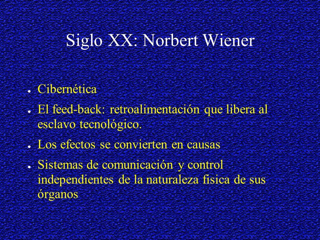 Siglo XX: Norbert Wiener