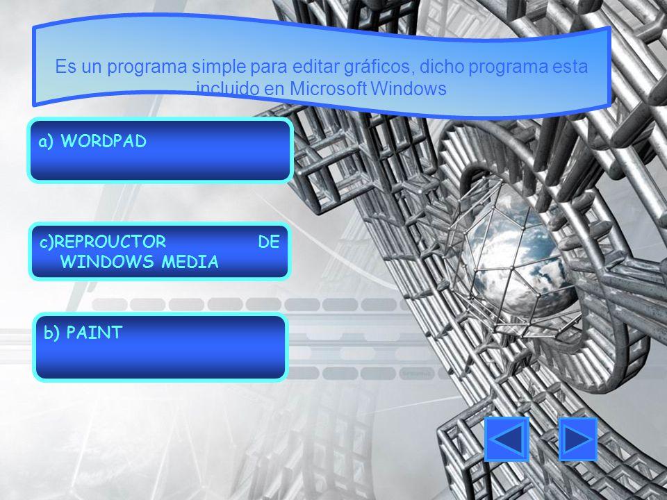 Es un programa simple para editar gráficos, dicho programa esta incluido en Microsoft Windows