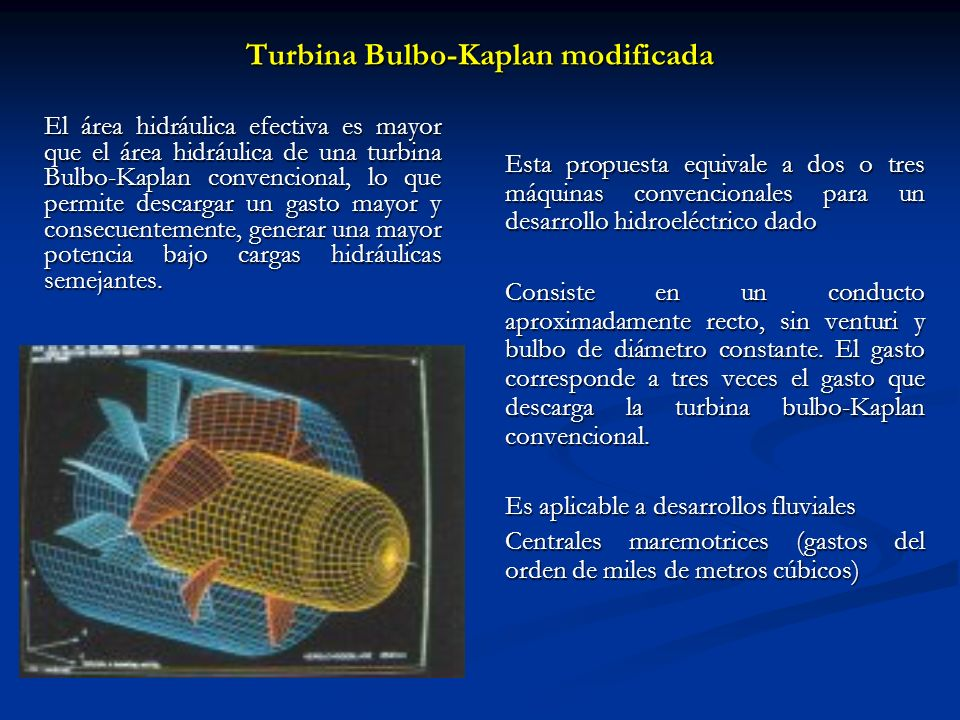Turbina Bulbo-Kaplan modificada