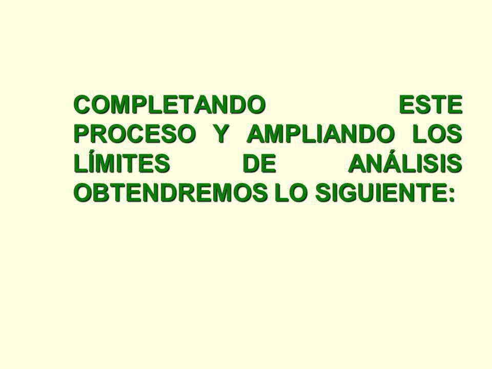 COMPLETANDO ESTE PROCESO Y AMPLIANDO LOS LÍMITES DE ANÁLISIS OBTENDREMOS LO SIGUIENTE: