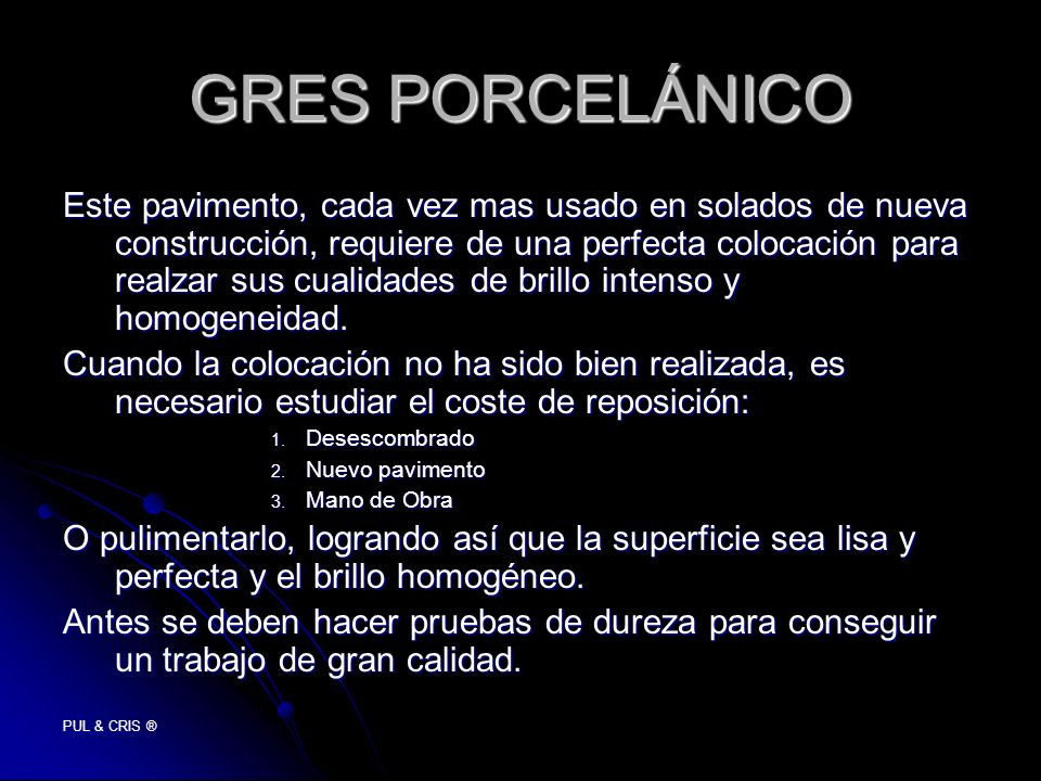 GRES PORCELÁNICO
