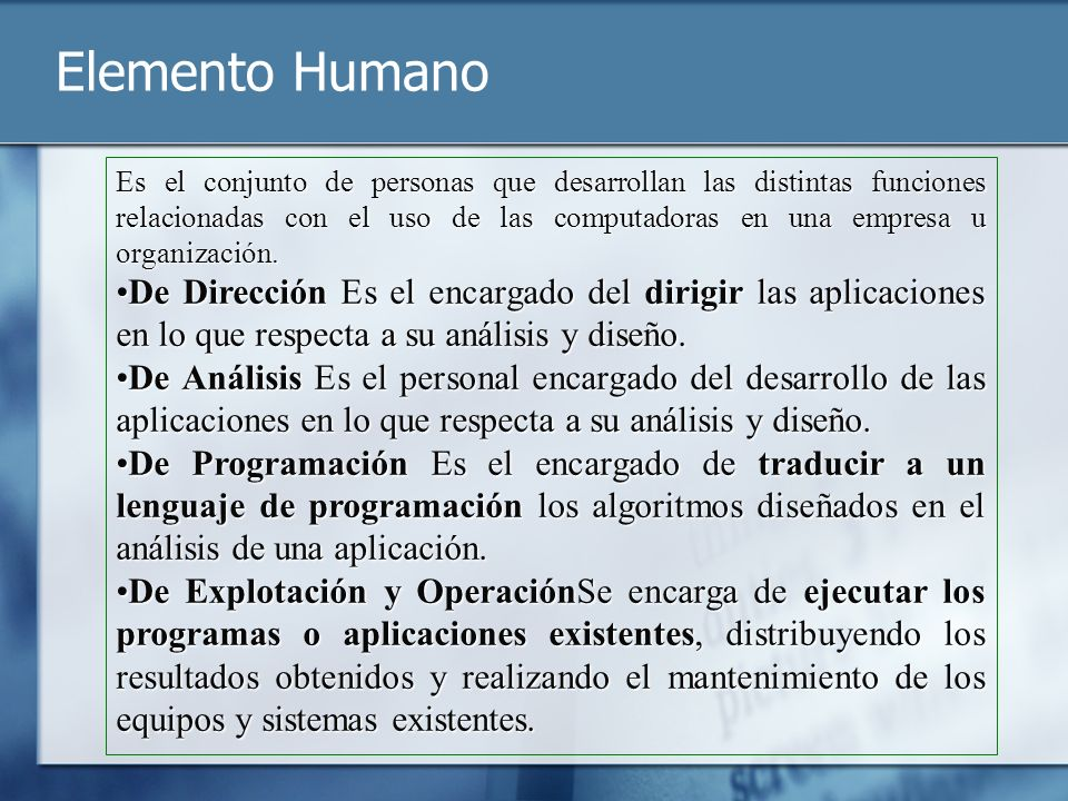 Elemento Humano