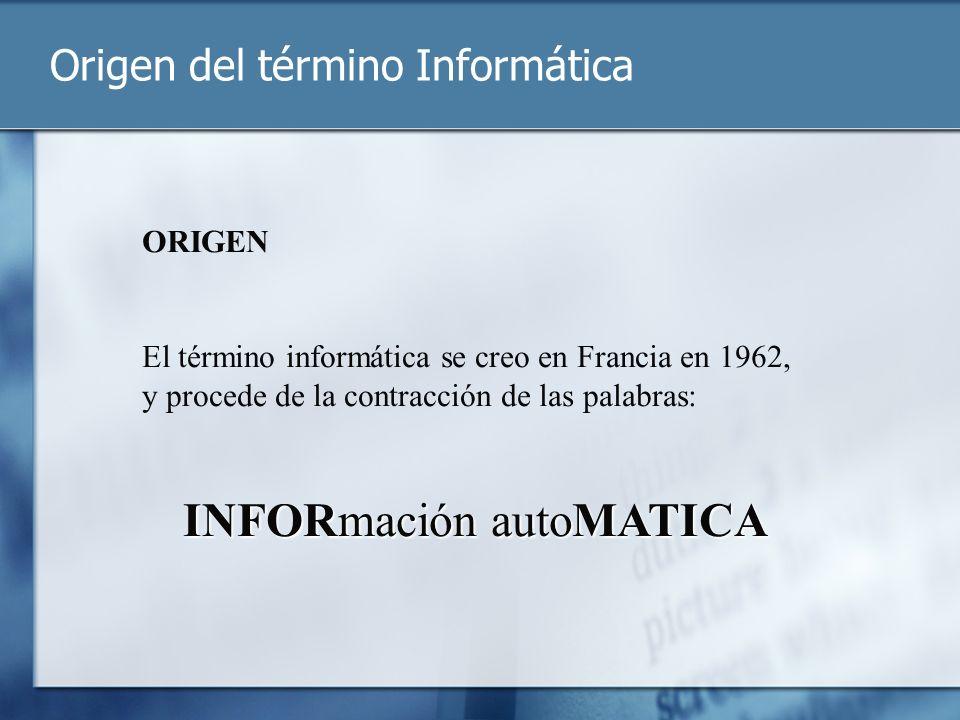 Origen del término Informática
