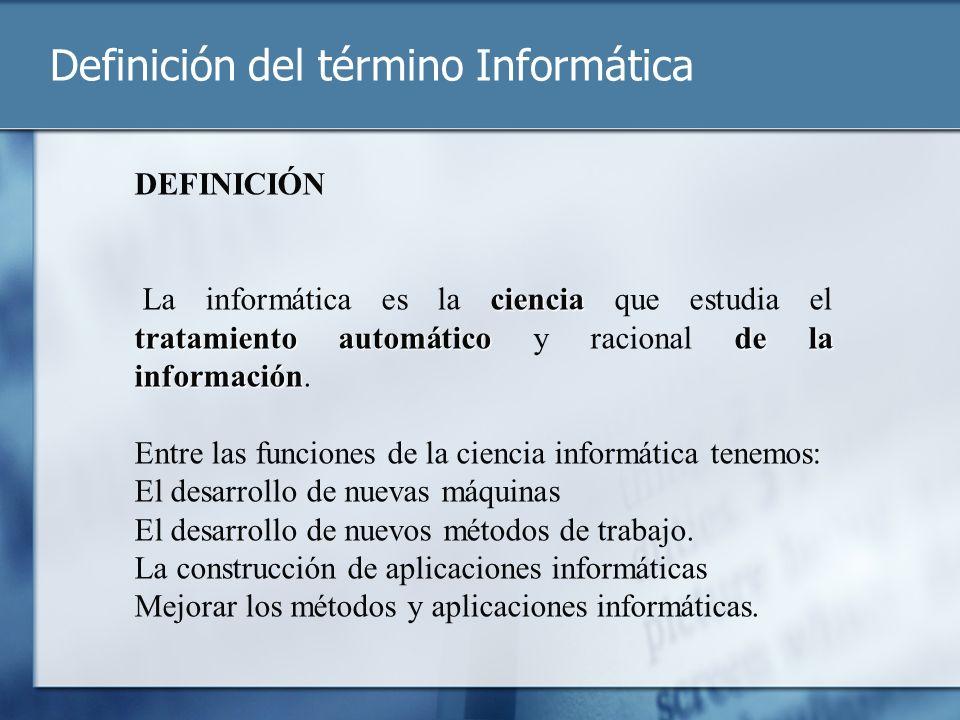 Definición del término Informática