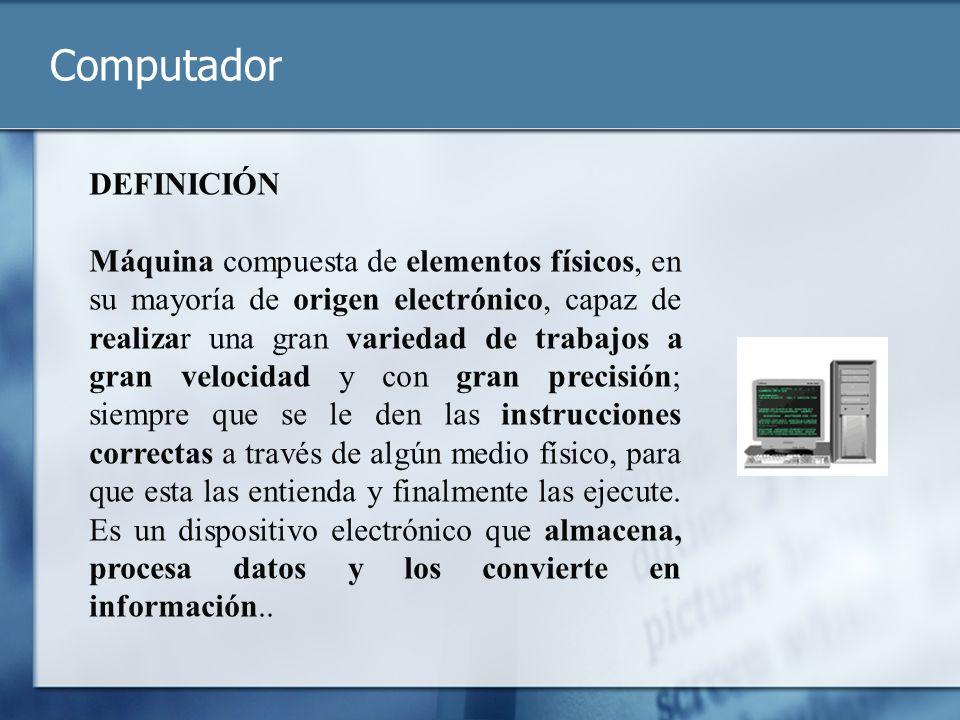 Computador DEFINICIÓN