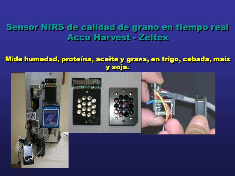 Sensor NIRS de calidad de grano en tiempo real Accu Harvest - Zeltex