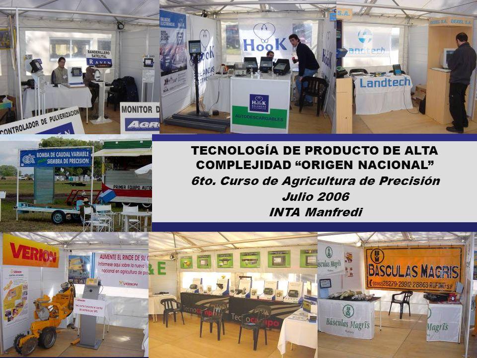 TECNOLOGÍA DE PRODUCTO DE ALTA COMPLEJIDAD ORIGEN NACIONAL