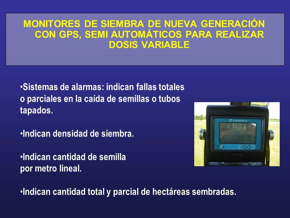 MONITORES DE SIEMBRA DE NUEVA GENERACIÓN CON GPS, SEMI AUTOMÁTICOS PARA REALIZAR DOSIS VARIABLE