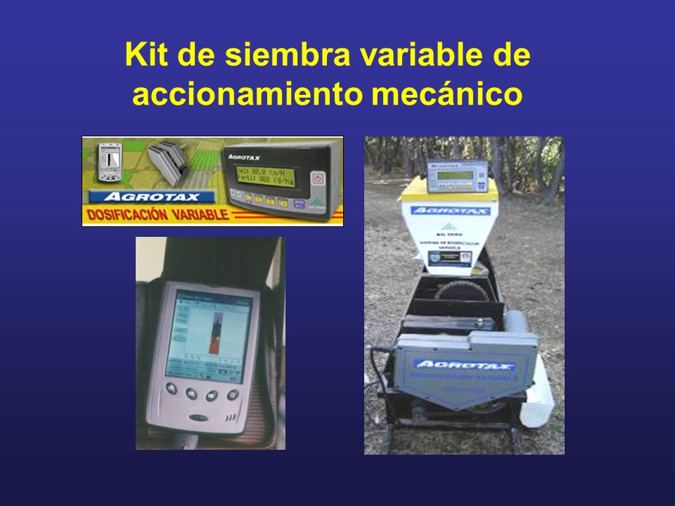 Kit de siembra variable de accionamiento mecánico