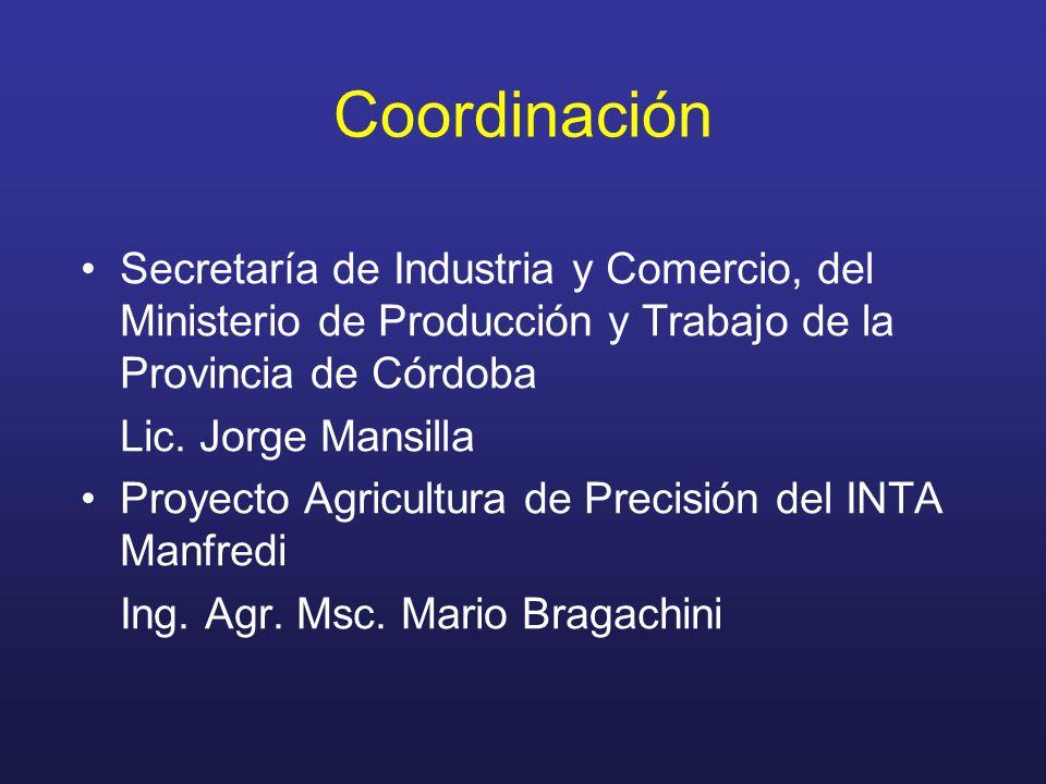 Coordinación Secretaría de Industria y Comercio, del Ministerio de Producción y Trabajo de la Provincia de Córdoba.