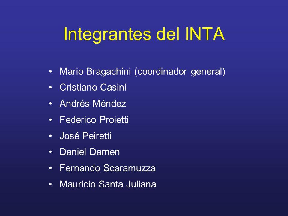 Integrantes del INTA Mario Bragachini (coordinador general)