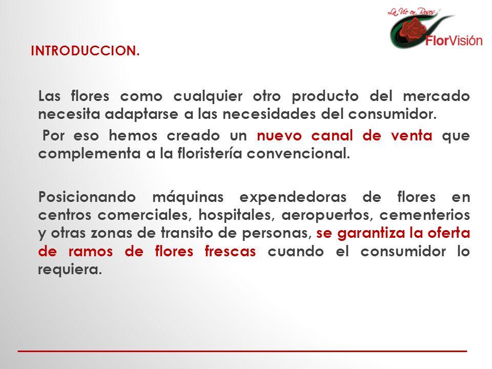 INTRODUCCION. Las flores como cualquier otro producto del mercado necesita adaptarse a las necesidades del consumidor.